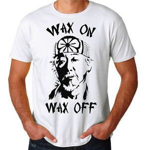 4f5e02e35 Mr Miyagi Wax On Wax Off Karate Kid 80's Movie Training Gym New Mens ...