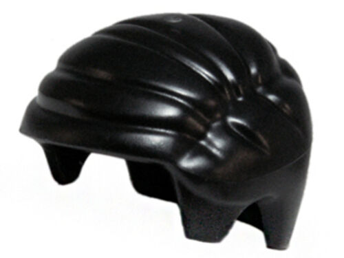 Black Headgear Hair Smooth Combed Sideways Minifig LEGO