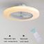 Ventilador-de-Techo-con-Lampara-LED-36W-Creativo-Invisible-Control-Remoto miniatura 1