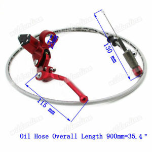900mm Line Hydraulic Clutch Lever Master Cylinder Fit Dirt Bike Motor Motorcycle