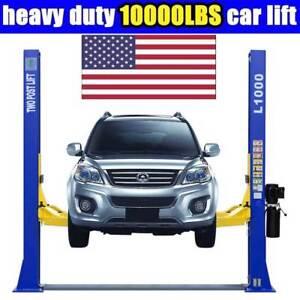 10000 Lb Car Lift >> Auto 10 000 Lbs L1000 2 Post Lift Car Lift Auto Truck Hoist Free