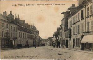 CPA VILLERS-COTTERETS Place du Marche et la Rue de Paris (152032)