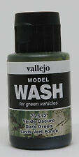 Vallejo #76512 Acrylic Model Wash Colours Dark Green 35ml Bottle