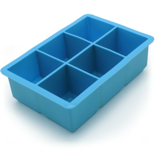 2x Ice Cube Tray 6 Extra Large Carré De Qualité Alimentaire Jumbo Ice Cube moules Whiskey