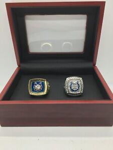 2 Pcs Indianapolis Colts Peyton Manning Super Bowl Championship Ring Set w Box