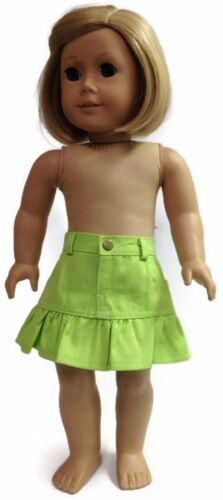 """Lime Green Ruffled Skirt w//Pockets made for 18/"""" American Girl Doll Clothes"""