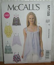Womens/Misses Strappy Pullover Tops Sewing Pattern/McCall's M7155/SZ XS-M/UCN