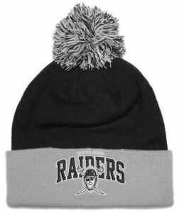 MITCHELL /& NESS NEW NFL OAKLAND RAIDERS BEANIE ADULT