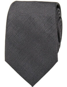 NEW-Blaq-Plain-Poly-Tie-Charcoal