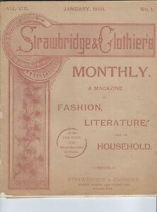 MC-229 - Strawbridge & Clothiers Women's Fashion Magazine January 1889 Illust