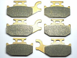 Front Rear Brake Pads For Can-am Outlander Max 650 STD 2010 2011 BRAKES SET RE