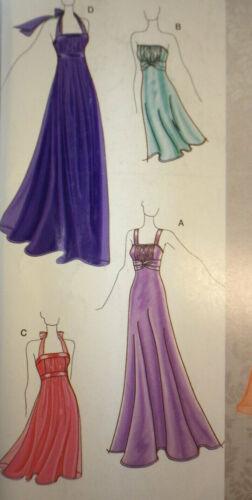 NEW Simplicity 2398 Jessica McClintock Prom Wedding Evening Dress Pattern 4-12
