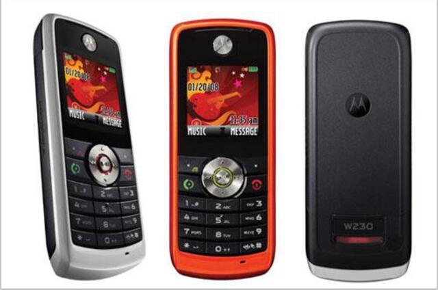 "Motorola W series W230  (Unlocked) Mobile phone MP3 1.6"" Screen GSM 900/1800"