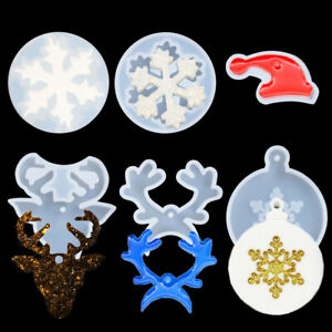 Tree Christmas Ornament Resin Casting Mold Crystal Mould Epoxy Silicone  Molds