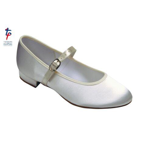 Holly Boucle Barre Satin Blanc Ivoire Demoiselles D/'honneur//Communion Chaussures 2UK-Neuf