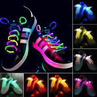 Fashion LED Flashing Luminous Light Up Glowing Strap Shoelace Shoe Party Night
