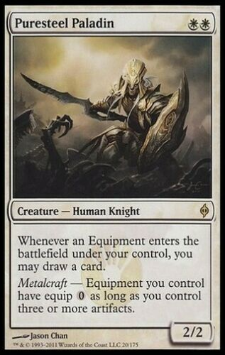 *  Spanish 1X Puresteel Paladin New Phyrexia MTG CARD SEE PICTURES