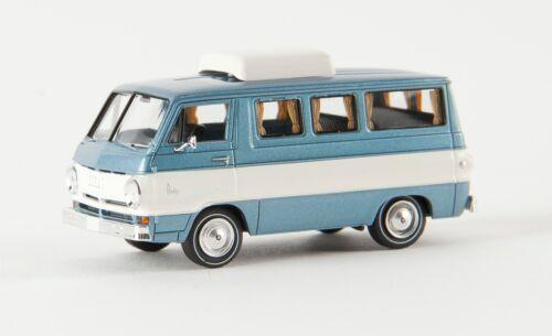 Brekina 34307 Dodge A 100 Camper TD  1:87 eisblau-met.//weiß