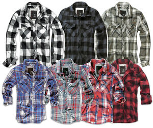 BRANDIT-CLASSIC-CASUAL-CHECK-SHIRT-MENS-COTTON-WORK-LONG-SLEEVE-VINTAGE-FLANNEL