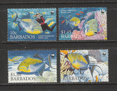 Stamps Nice Barbados 2006 Endangered Species **/mnh Sg 1290-3 Fish Perfect In Workmanship