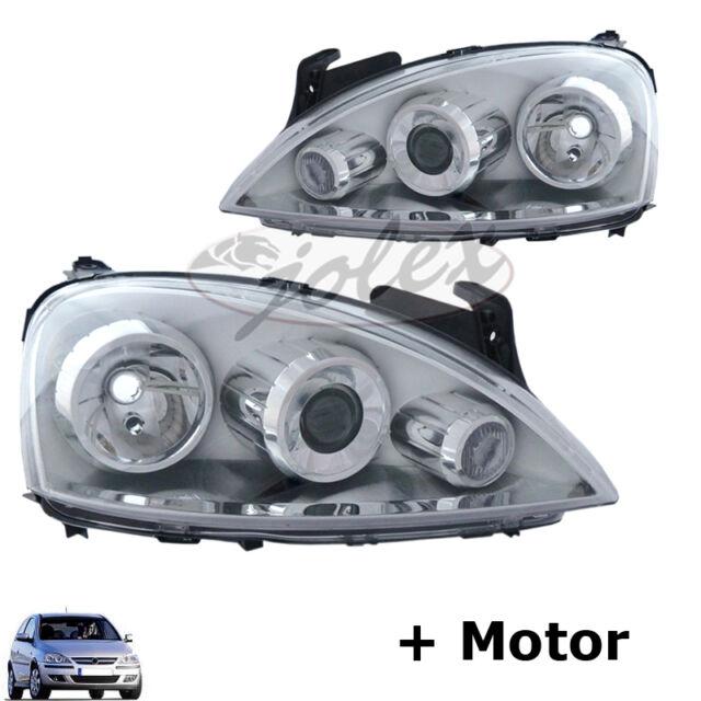 Scheinwerfer LINSE Stellmotor rechts+links Set Satz Paar Opel Corsa C Facelift