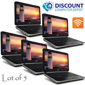 Lot-of-5-Dell-14-1-034-Laptop-Computers-i5-8GB-120GB-SSD-DVD-Wifi-Windows-10-Pro