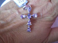 AA Tanzanite Cross pendant, 2.41 carats, in 2.51 grams of 925 Sterling Silver