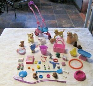 Barbie-Pet-amp-Accessories-Lot-Huge-45-piece-Lot-A