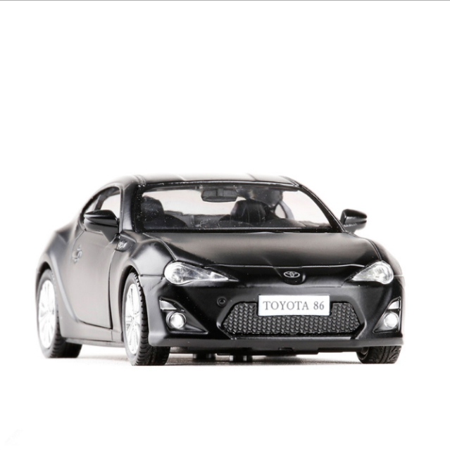 Toyota Gt86 Model Cars 1 36 Toys Collections Gifts Matte Black New Alloy Cast