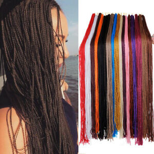 "28"" Thin Senegalese ZiZi Box Braid Crochet Micro Twist Synthetic Hair Extensions"