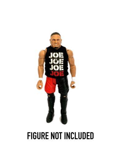WWE Samoa Joe /'Joe Joe Joe Joe/' Custom Shirt For Mattel Figures.