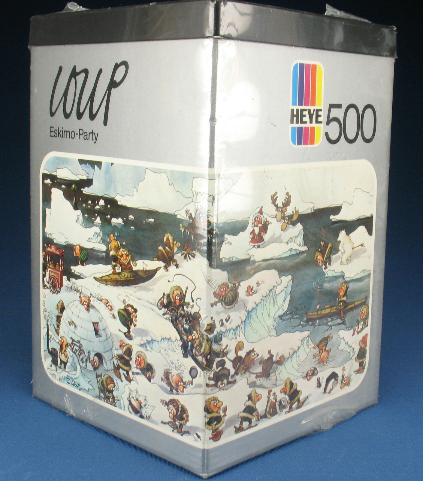 HEYE HEYE HEYE Dreieck PUZZLE 8317 - LOUP - Eskimo Party - 500 Teile - 1974 - NEU - NEW b9ebd9