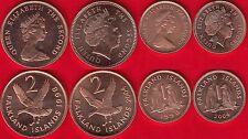 Falkland Islands set of 4 coins: 1 - 2 pence 1998-2004 UNC