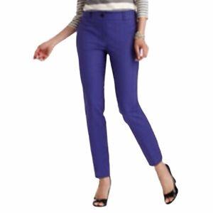 Ann-Taylor-LOFT-Women-s-Julie-Mid-Rise-Cropped-Career-Pants-Royal-Blue-Size-8