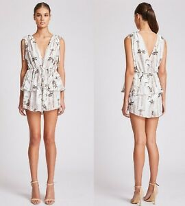 c4857b7c1cb Image is loading BRAND-NEW-SHONA-JOY-BONAIRE-RUCHED-PEPLUM-PLAYSUIT-