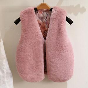 e4ddad1d9 Cute Kids Baby Girls Sleeveless Coat Winter Warm Vest Waistcoat ...