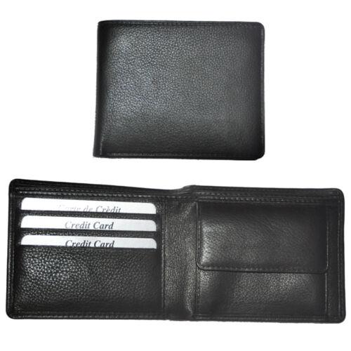 Geldbörse mit RFID-Blocker Rindleder flaches Portemonnaie Geldbeutel Herren