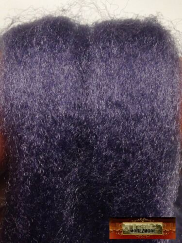 "M01390 MOREZMORE 36/"" Viscose Roving PURPLE GREY Mini OOAK Doll Hair Fiber"