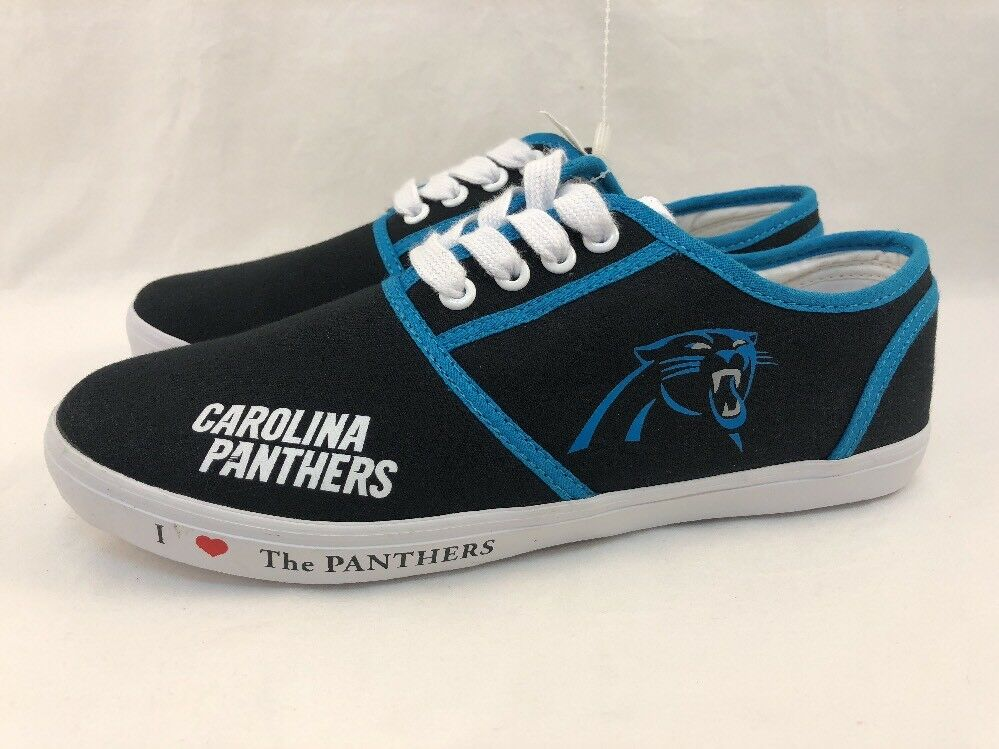 Carolina Panthers WOMEN SIZE 8.5  SHOES SNEAKERS THE BRADFORD EXCHANGE NFL