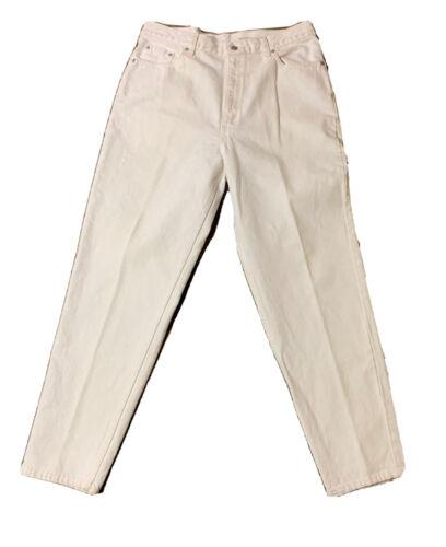 VTG Levi's 512 Slim Fit Tapered Leg Mom Jeans Whit