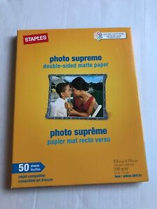 Details about Staples Photo Supreme Double-sided Matte Paper 8 5x11 * 50  Sheets #564121