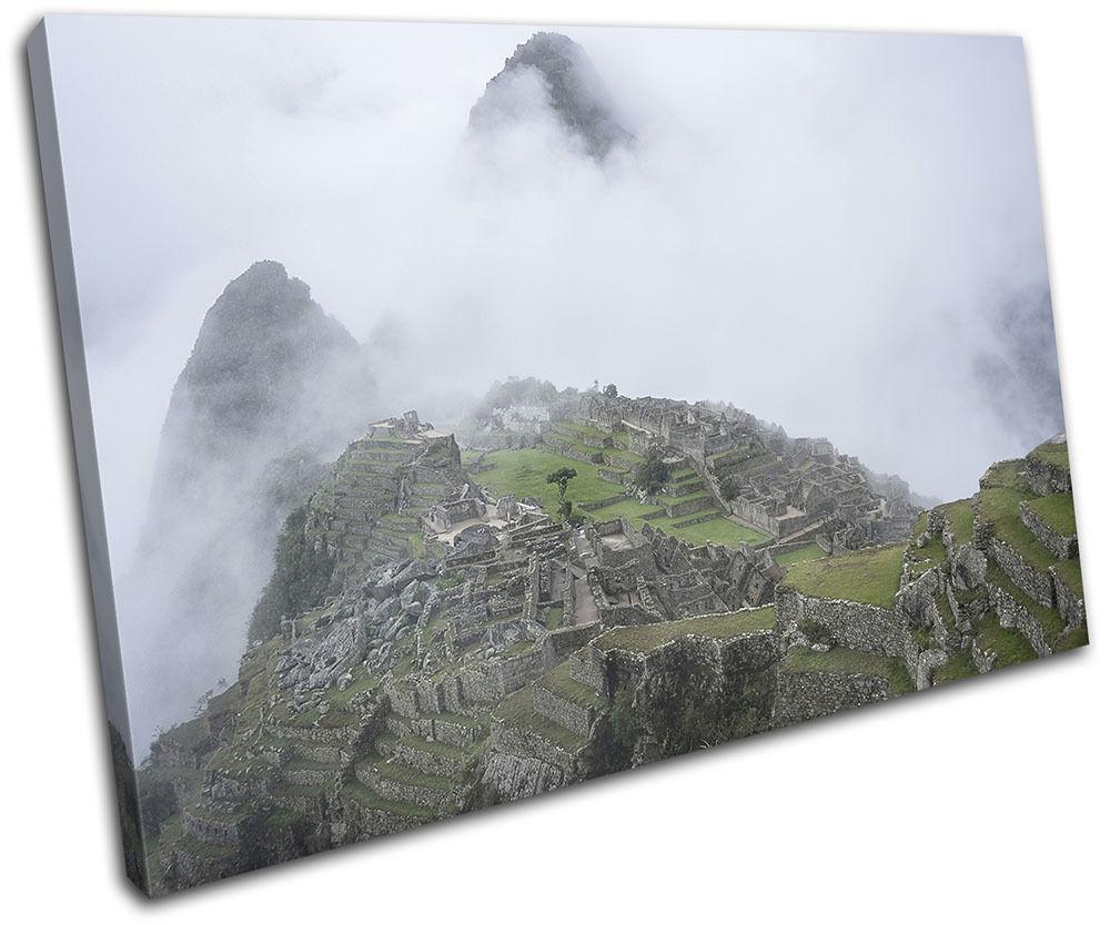 Machu Picchu Nature Landscapes SINGLE Leinwand Wand Kunst Bild drucken