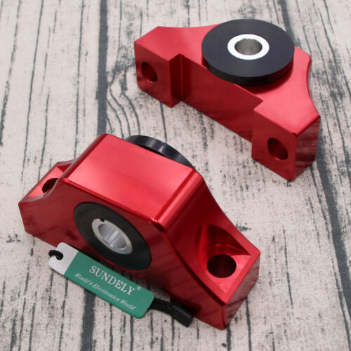 Engine Billet Motor Torque Mounts Kit For Honda Civic EG EK D16 B16 B20 Red