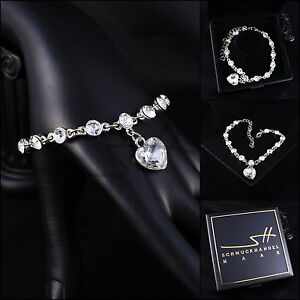 Herz-Armband-Bracelet-Herzen-Armreif-Weissgold-pl-Swarovski-Elements-Etui