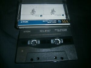 1x-TDK-MA60-METAL-POSITION-TYPE-IV-BLANK-CASSETTE-TAPE-JAPAN-RARE-FREE-POST