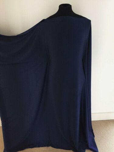 Marine Bleu Marine Satin Stretch Tissé couture tissu