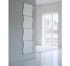 Confezione da 4 ONDULATA Edged vetro parete montato bagno corridoio camera da letto SPECCHIO tasselli vite