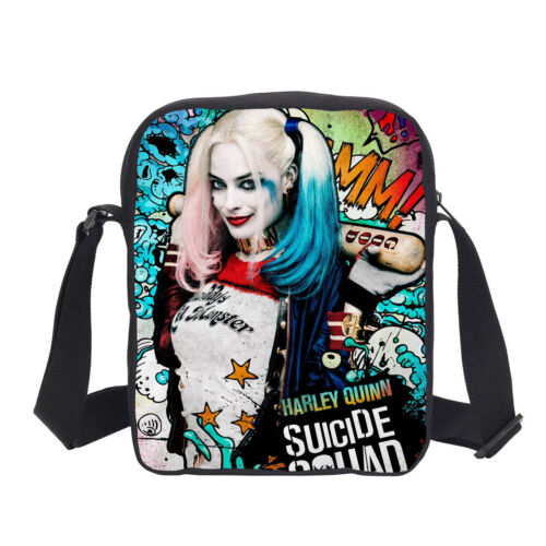 S//3 Harley Quinn Large Backpack Insulated Lunch Bag Shoulder Bag Pencil Case Lot