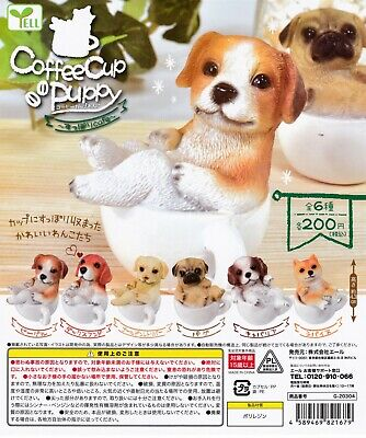 Coffee Cup Puppy FIgurine 6pcs complete set Gashapon Japan