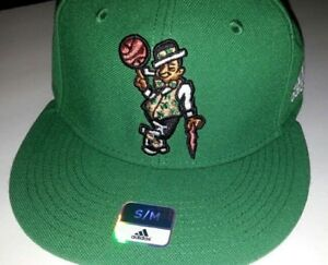 Boston Celtics Ball Cap Hat~Adidas Superflex~Flat Brim~Size Adult S ... 19ff0ef46a6